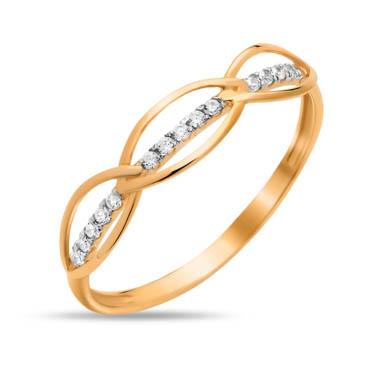 Золотое кольцо с фианитами СН01-114850