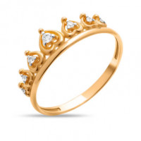Золотое кольцо с фианитами СН01-114868