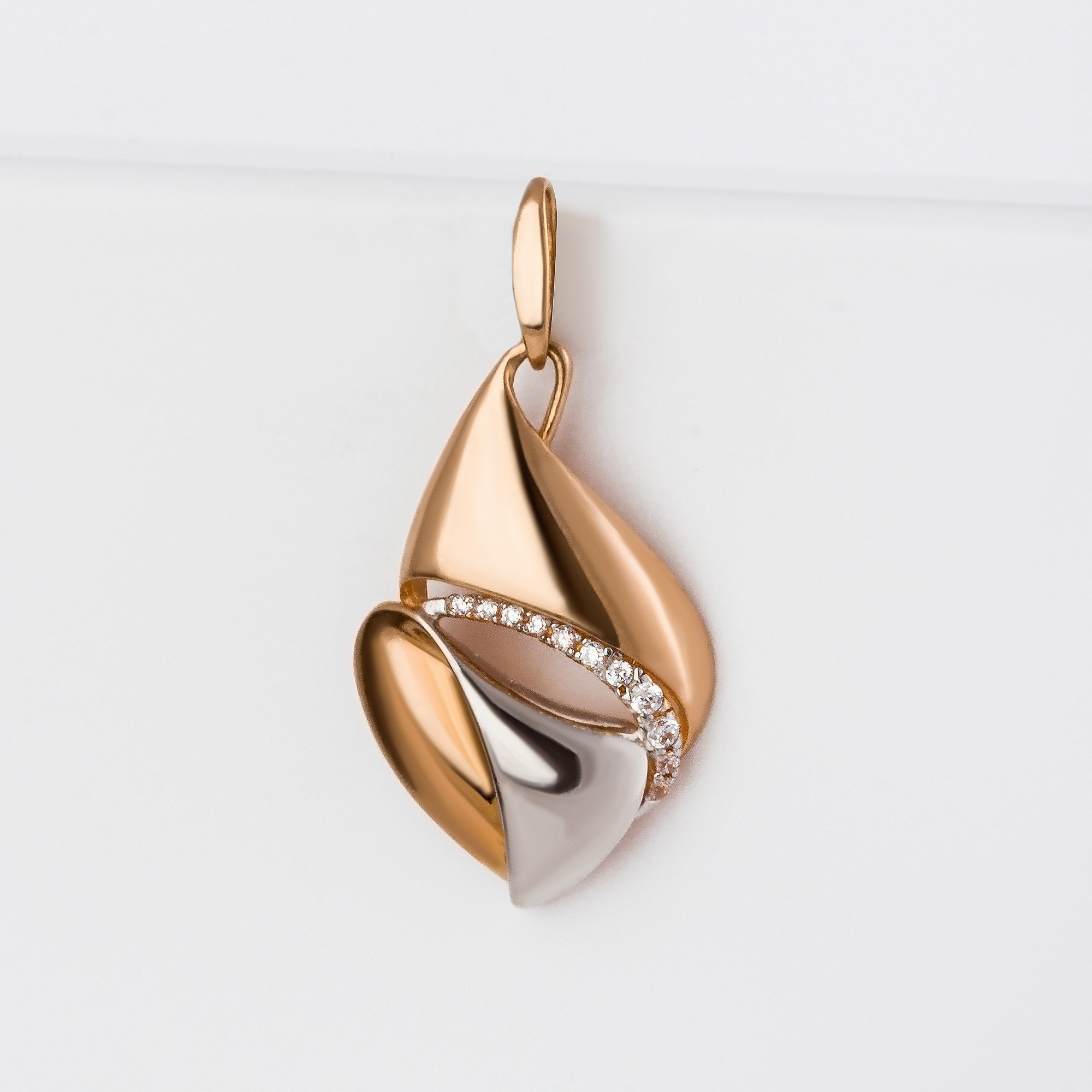 Золотая подвеска с фианитами СН01-315263