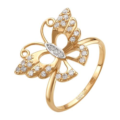 Золотое кольцо с фианитами ЮИК132-679