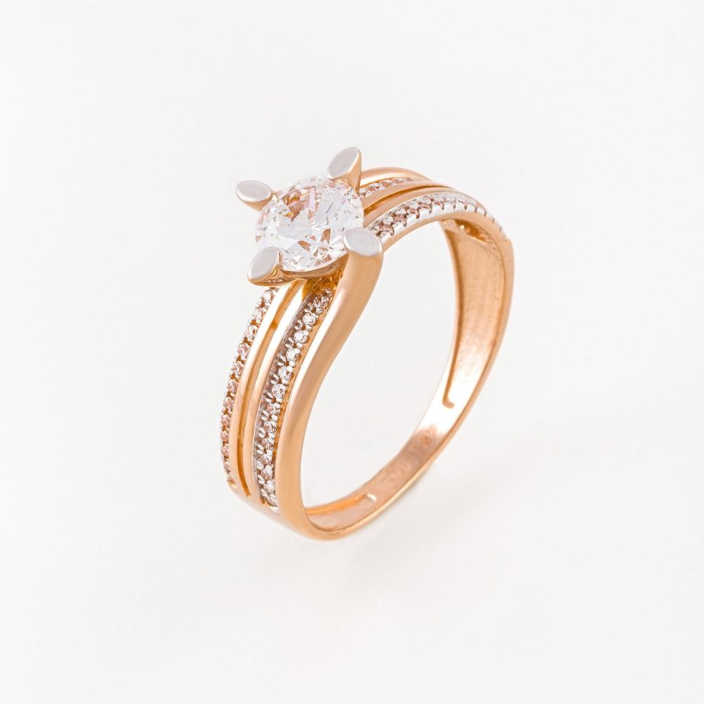Золотое кольцо с фианитами СН01-114539