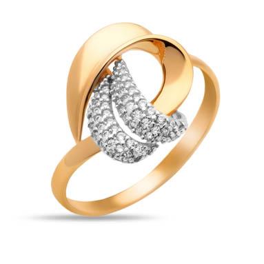 Золотое кольцо с фианитами СН01-114614