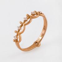Золотое кольцо с фианитами СН01-115266