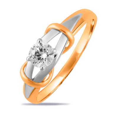 Золотое кольцо с фианитами СН01-115276