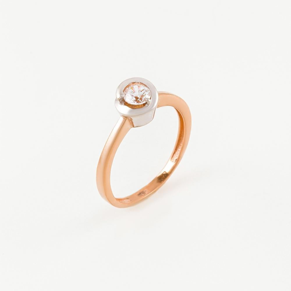 Золотое кольцо с фианитами СН01-115293