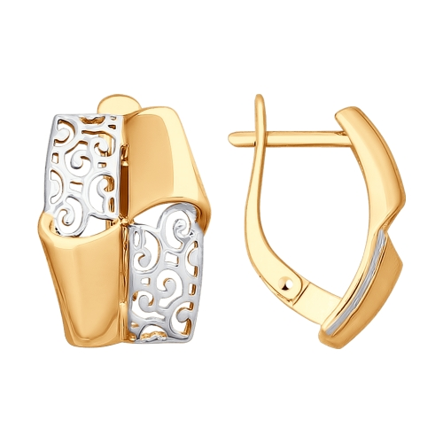 Золотые серьги ДИ027757