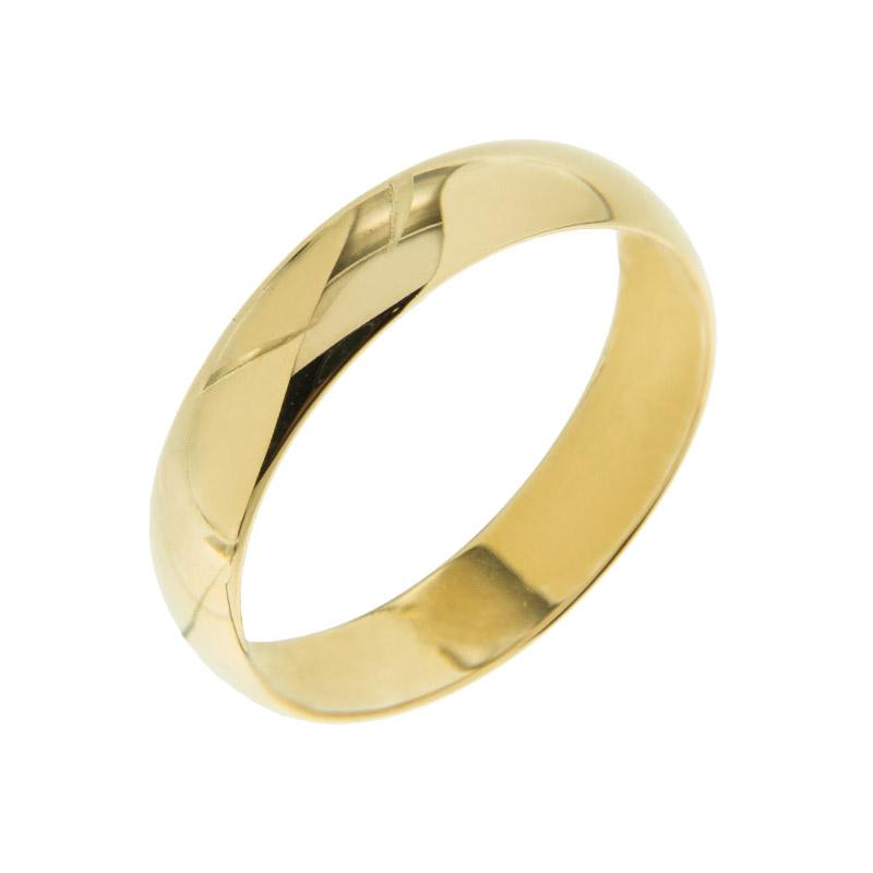 Золотое кольцо обручальное МЯ124000-3