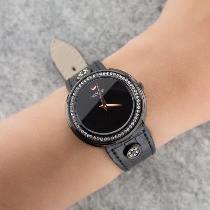 Бижутерные часы с цирконами К4ДВ040-3