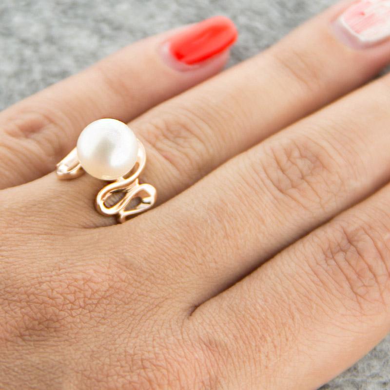 Золотое кольцо с жемчугом 5Э10-00-00026