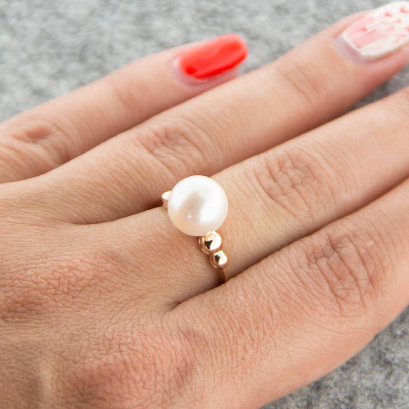 Золотое кольцо с жемчугом 5Э10-00-00032