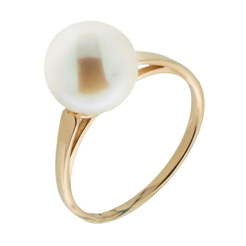 Золотое кольцо с жемчугом 5Э10-00-00028