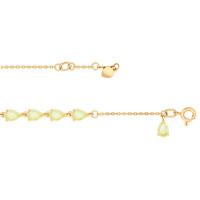 Золотой браслет с кварцем ДИ750212