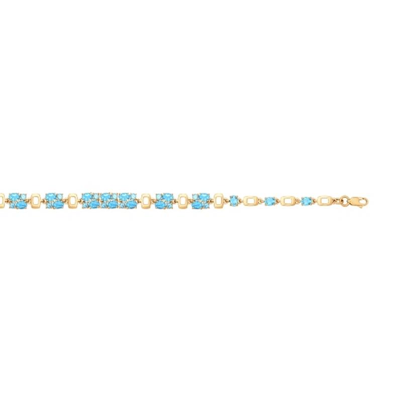 Золотой браслет с топазами ДИ750222
