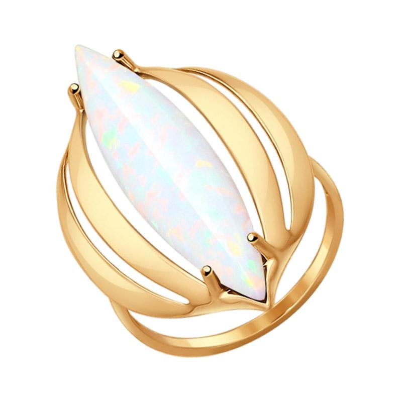 Золотое кольцо с опалами ДИ714553