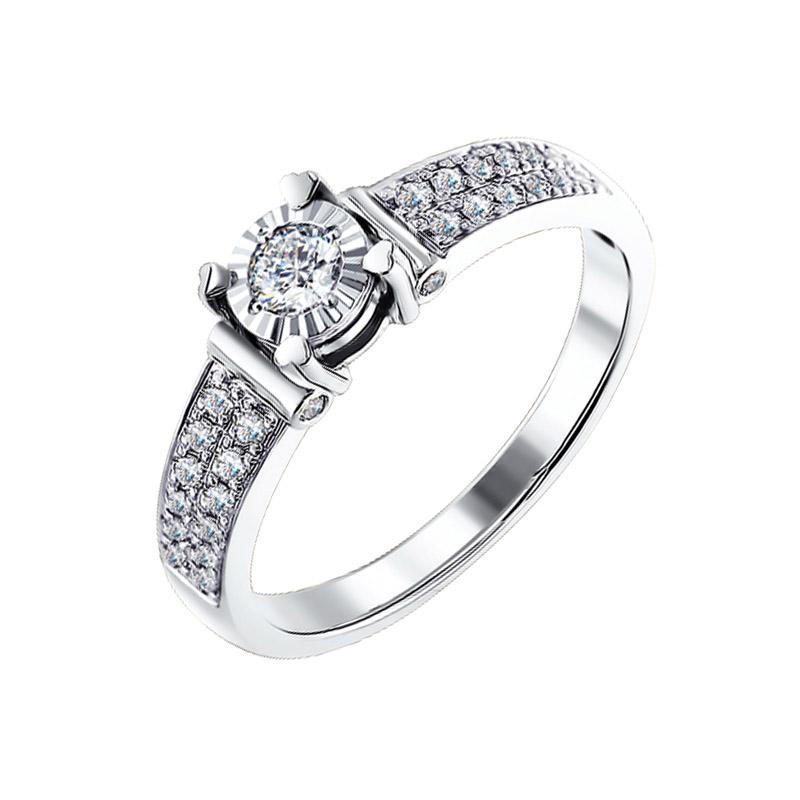 Золотое кольцо с бриллиантами ДИ1011116