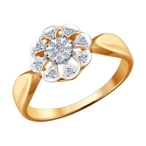 Золотое кольцо с бриллиантами ДИ1011488