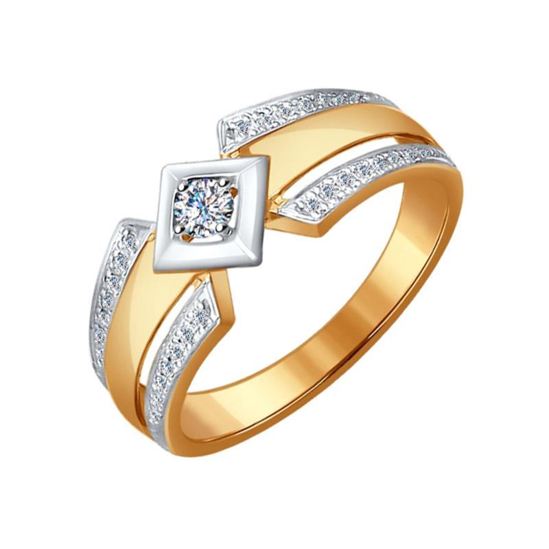 Золотое кольцо с бриллиантами ДИ1011515