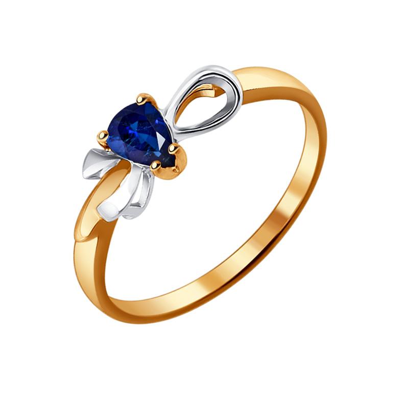 Золотое кольцо с сапфиром ДИ2011035