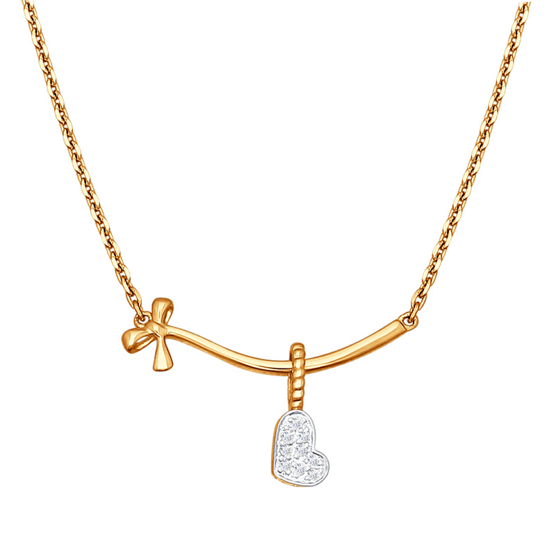 Золотое колье с бриллиантами ДИ1070028