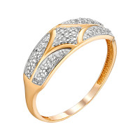 Золотое кольцо с фианитами ЮИК132-4737
