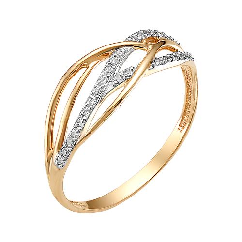 Золотое кольцо с фианитами ЮИК132-2510