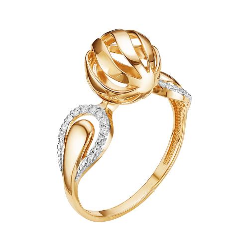 Золотое кольцо с фианитами ЮИК132-4145