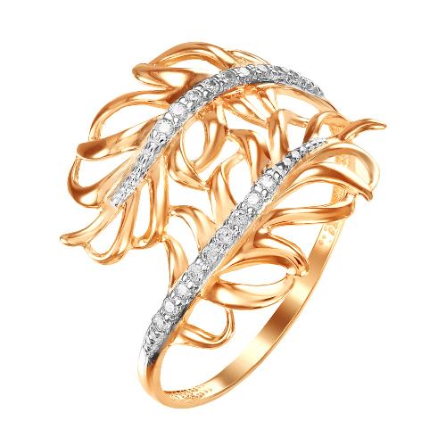Золотое кольцо с фианитами ЮИК132-4772