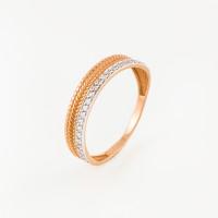 Золотое кольцо с фианитами ЮПК1327642