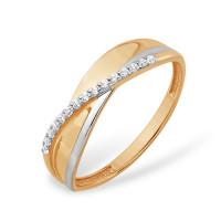 Золотое кольцо с фианитами ЮПК1327667