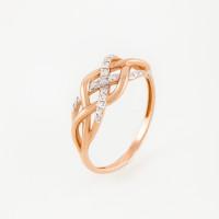 Золотое кольцо с фианитами ЮПК1327742