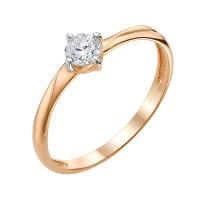 Золотое кольцо с фианитами ЮИК132-3023