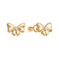 Золотые серьги гвоздики с фианитами ЮИС130-4343