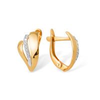 Золотые серьги с фианитами ЮПС1327682 женские