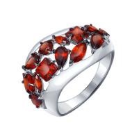 Серебряное кольцо с гранатами ДИ92011122