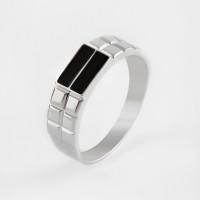 Серебряная печатка с эмалью ЮП1100410229