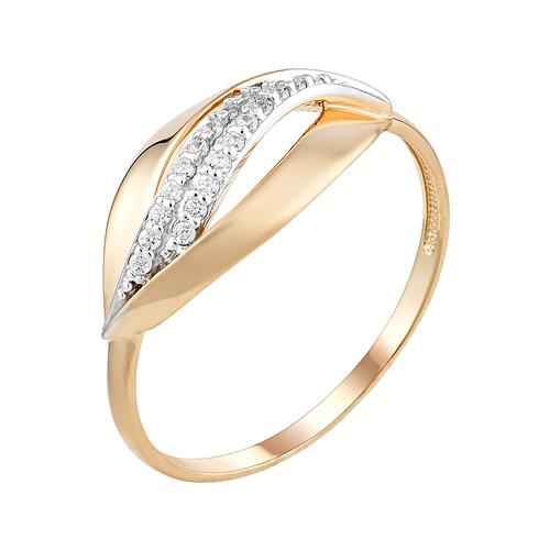 Золотое кольцо с фианитами ЮИК132-4557