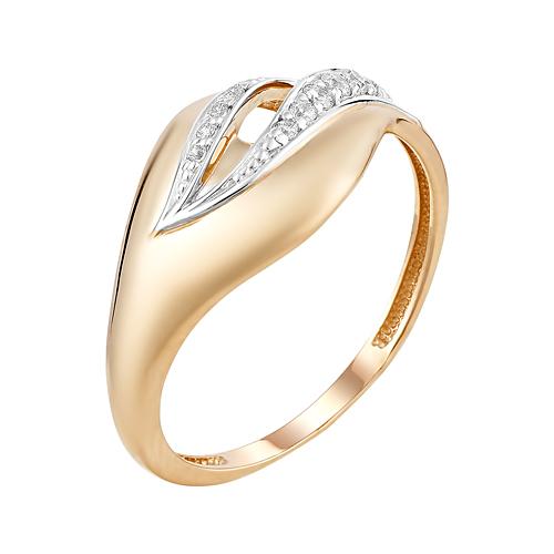 Золотое кольцо с фианитами ЮИК132-4577