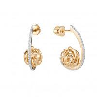 Золотые серьги гвоздики с фианитами ЮИС132-4413