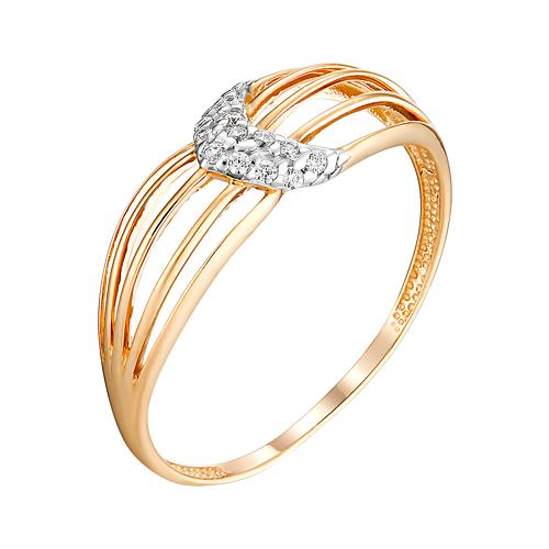Золотое кольцо с фианитами ЮИК132-4745