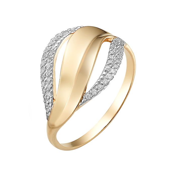 Золотое кольцо с фианитами ЮИК132-2474