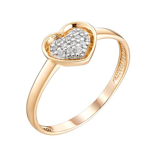 Золотое кольцо с фианитами ЮИК132-4736