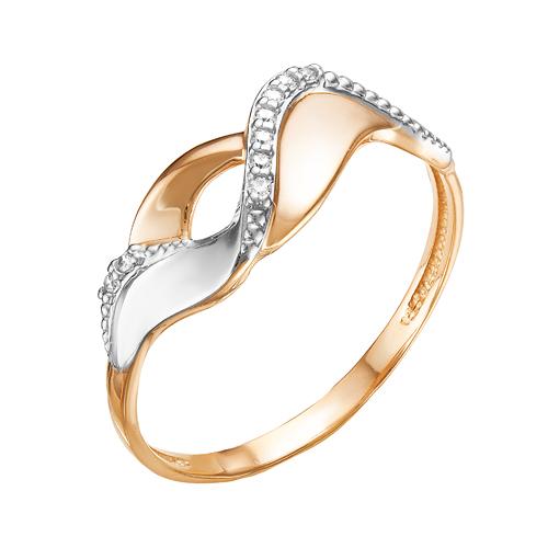 Золотое кольцо с фианитами ЮИК132-4989