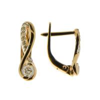 Золотые серьги с бриллиантами ХС051084121