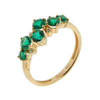 Золотое кольцо с изумрудами гт и бриллиантами ХС050110925
