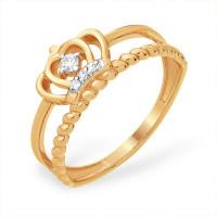 Золотое кольцо с фианитами ЮПК1328903