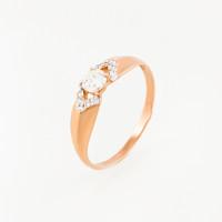 Золотое кольцо с фианитами ЮПК1329247