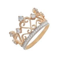 Золотое кольцо с фианитами ЮЫ2002000123389