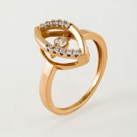 Золотое кольцо с фианитами НЮ105020192511