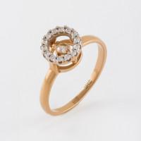 Золотое кольцо с фианитами НЮ105020192515