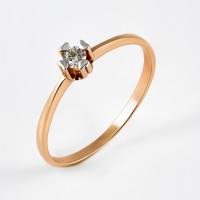 Золотое кольцо с бриллиантом ЮИК112-1270